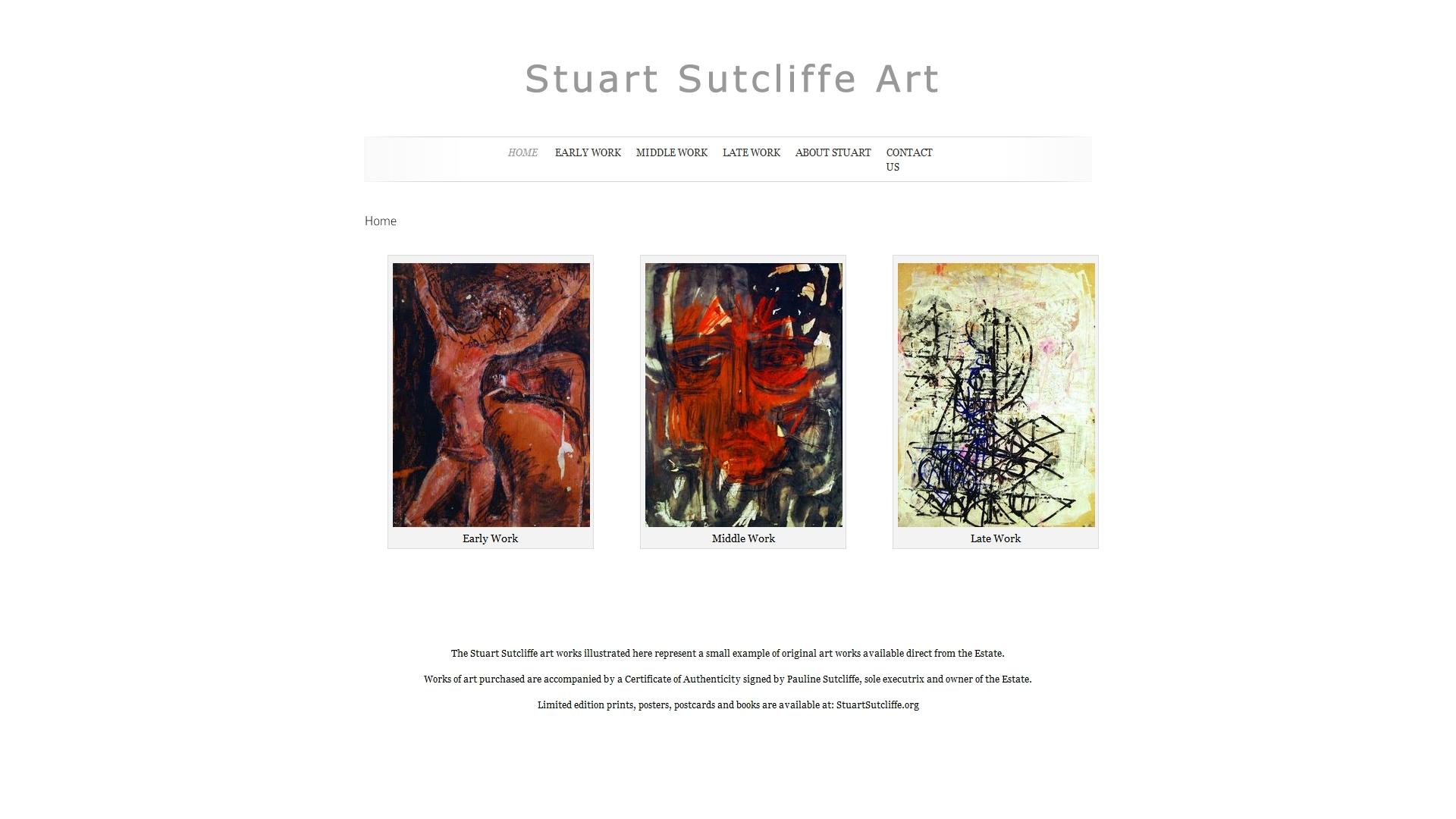 stuartsutcliffeart.com